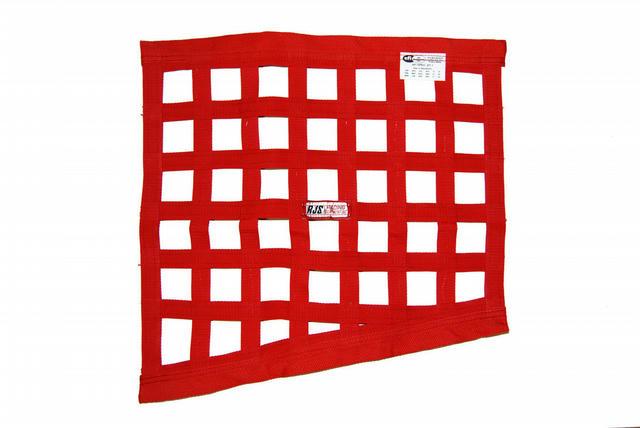 Red Angled Window Net