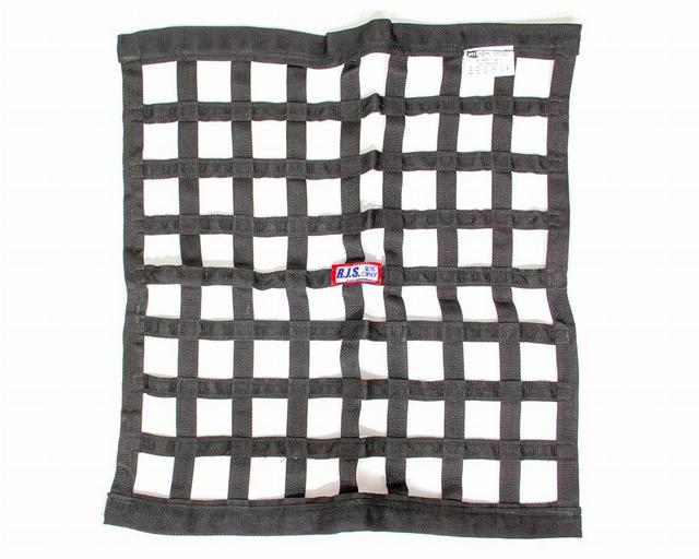 Ribbon Window Net 24x24 Black SFI