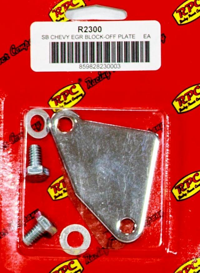 Chrome SB Chevy Manifold E.G.R. Block-off Plate