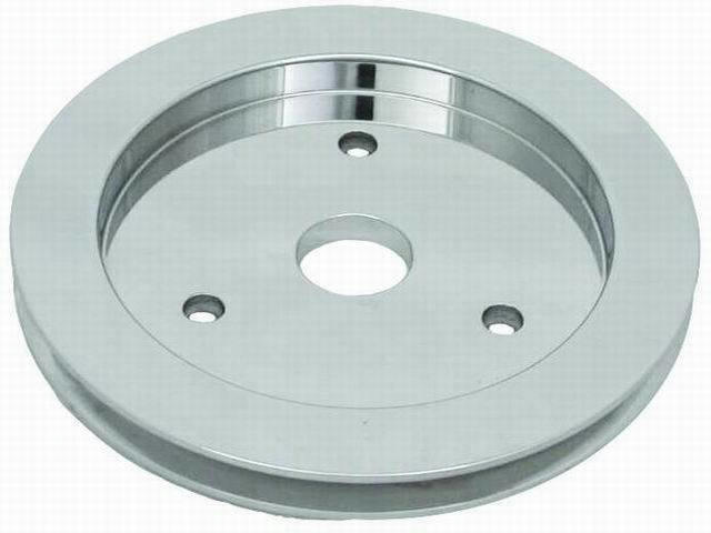 Polished Aluminum BB Che vy Single Groove Pulley