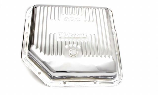TH350 Trans Pan Chrome Steel Finned