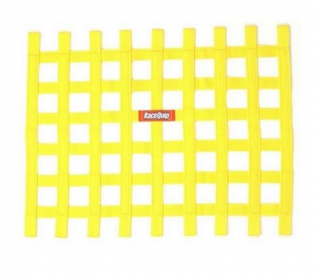 Ribbon Window Net Yellow Non-SFI 18in x 24in