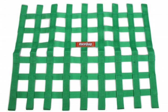 Ribbon Window Net Green Non-SFI 18in x 24in