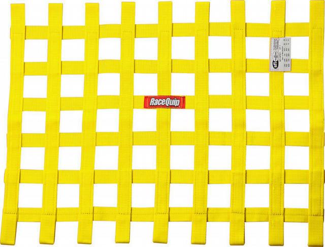 Ribbon Window Net SFI Yellow