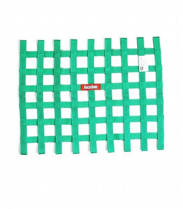 Ribbon Window Net SFI Green