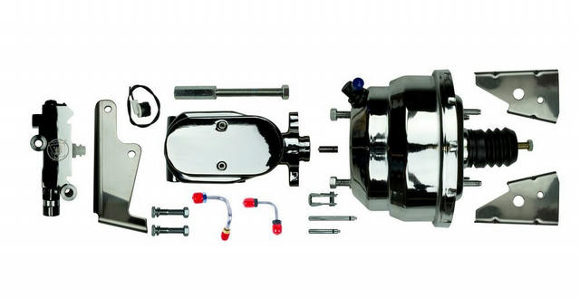 Chrome 8in Dual Booster and Master Cylinder