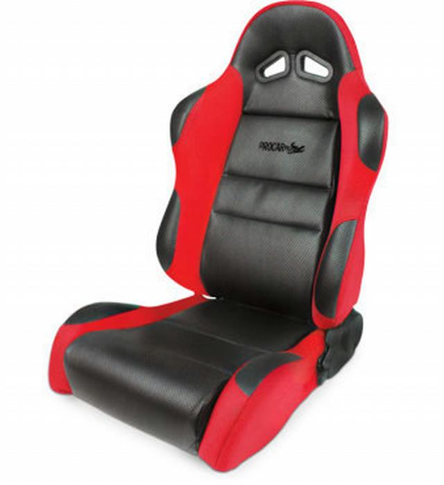 Sportsman Racing Seat - Left - Red Vinyl/Velour