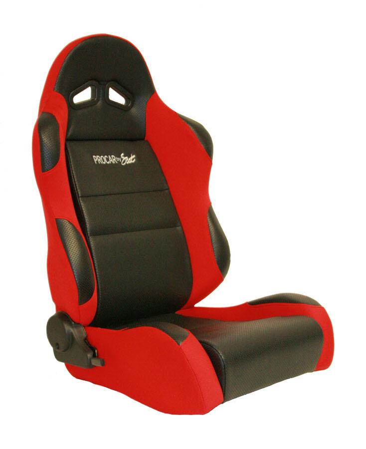 Sportsman Racing Seat - Right - Red Vinyl/Velour