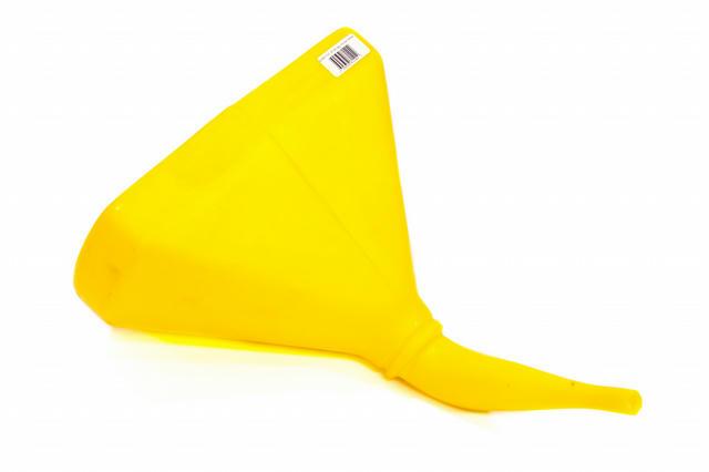Funnel - 14in 45 Deg. D-Shape Yellow