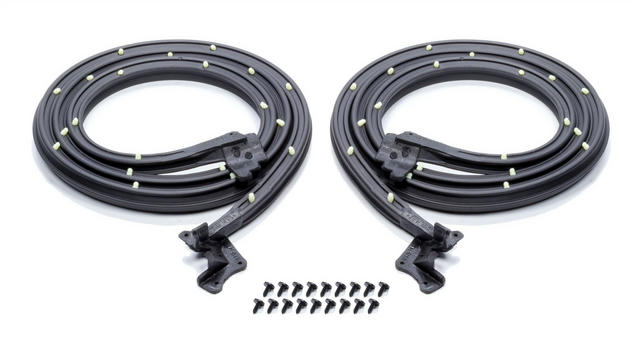 Door Weatherstrip with C lips and Molded Ends