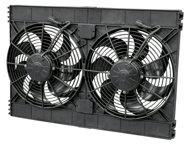 Dual 12in Puller Fan Curved Blade 3168 CFM