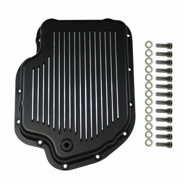 Transmission Pan  GM Tur bo 400 Finned with Gaske