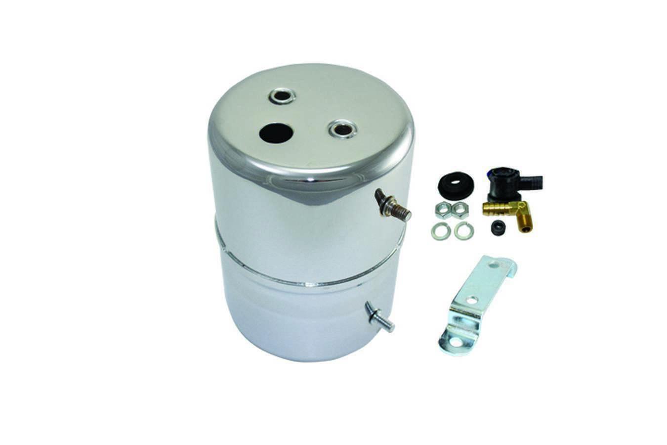 Vacuum Reservoir Tank wi th Hardware Chrome Steel