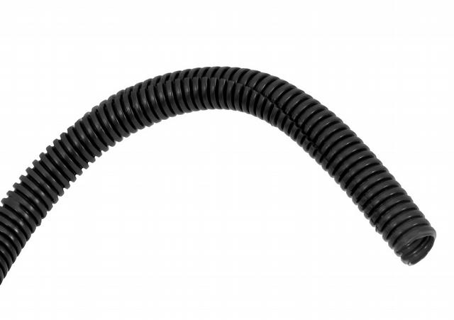 3/8in Convoluted Tubing 8' Black