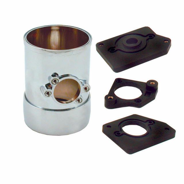 Air Flow Sensor Mount 3in w/Collar Chrome