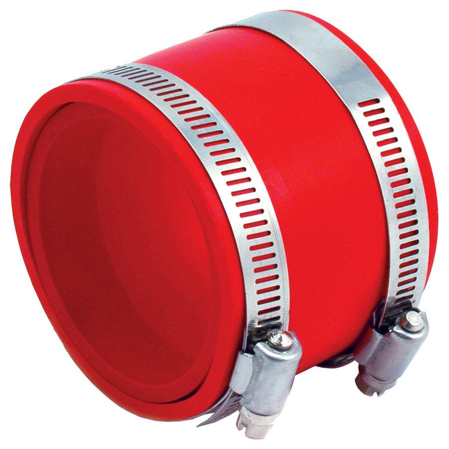 Coupler 3in PVC w/Red Insert