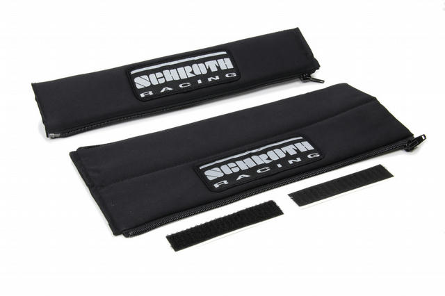 Harness Pads 2in Wide Black w/ Silver Patch