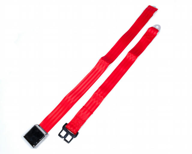 Airplane Style Buckle 2 Point Red