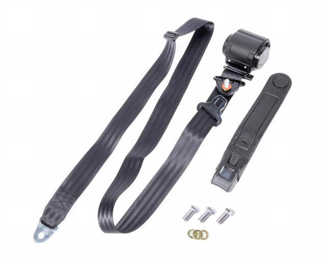 3 Point Retractable Lap Belt Black