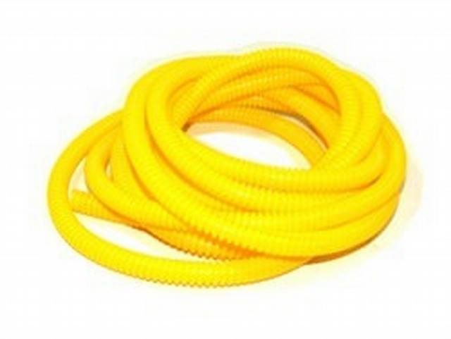 Convoluted Tubing 1/4in x 50' Yellow