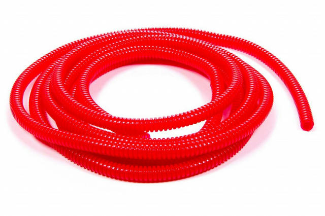 Convoluted Tubing 3/8in x 25' Red
