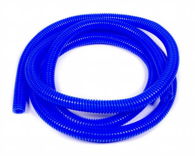 Convoluted Tubing 1/2in x 25' Blue