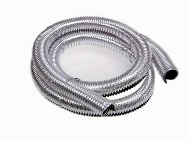 Convoluted Tubing 3/4in x 41in Chrome
