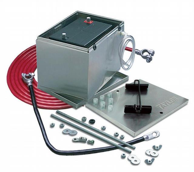 Battery Box Alum. NHRA w/1 Gauge Cable