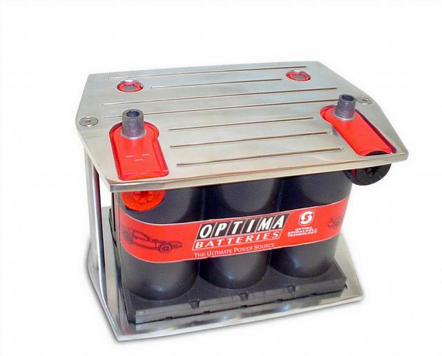 Billet Alum Battery Tray Optima 25/75 Series Batt