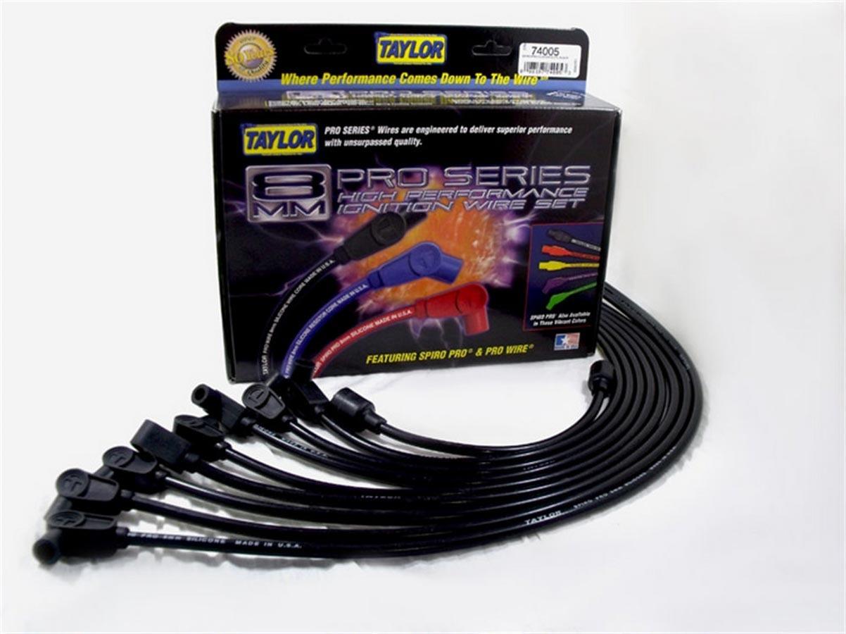 8mm Spiro-Pro Plug Wire Set 8-Cylinder Black
