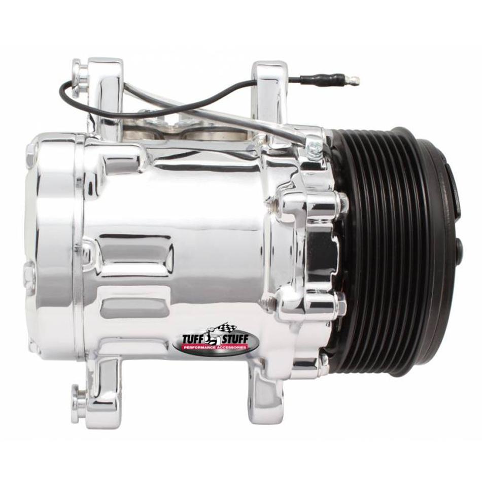 Peanut A/C Compressor R134A Chrome 8 Groove