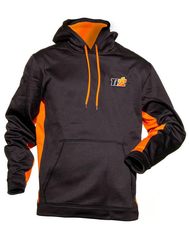Sport-Tek Black Orange Ti22 Hoodie Large
