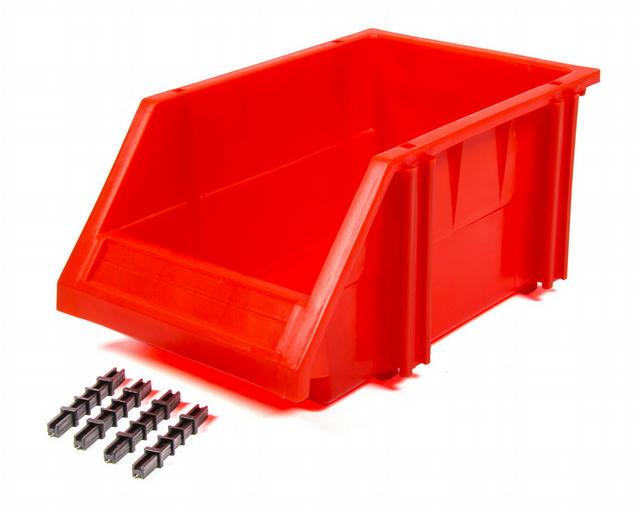 Plastic Storage Bin Red 9-1/2 x 6-1/4 x 4-1/2