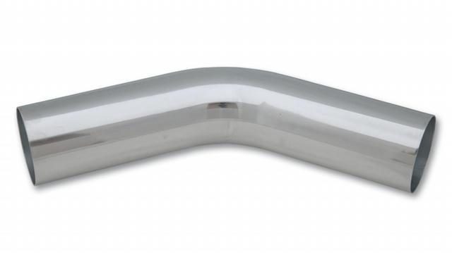 45 Deg Aluminum Elbow 2-1/2in OD x 6 in Lng