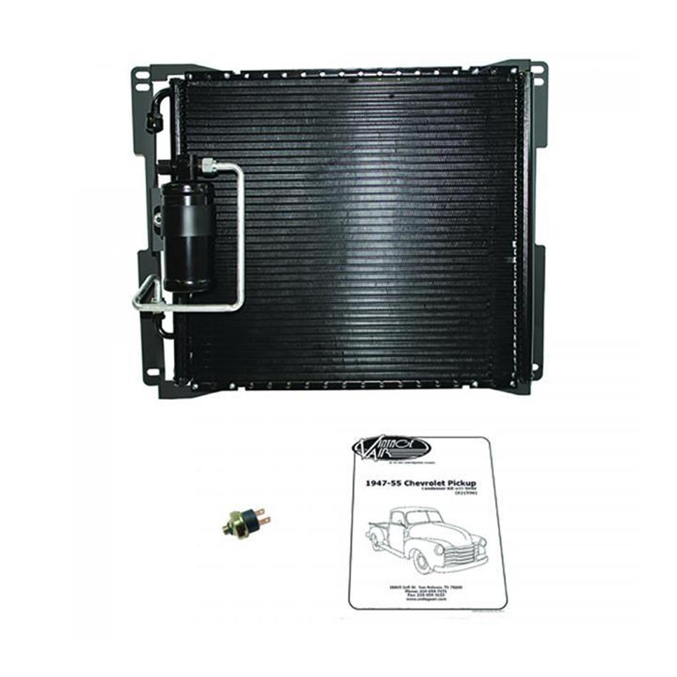 47-55 Chevy P/U SureFit Condenser Kit w/Drier
