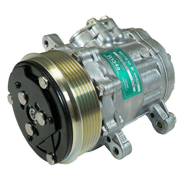 Sanden A/C Compressor 6 Groove Standard Finish