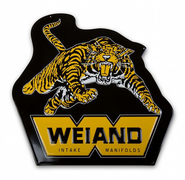 Weiand Metal Sign - Tiger