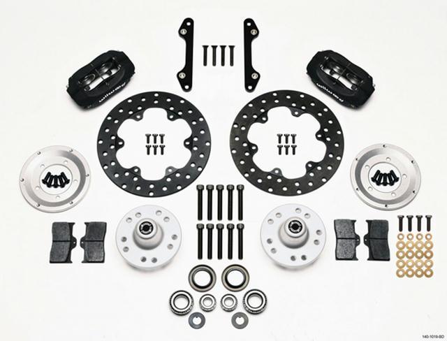 MD Drag Front Brake Kit GM Drilled Rotors