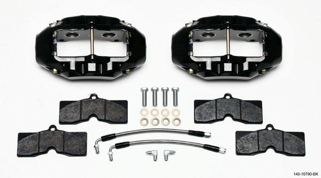 Rear Brake Kit 65-82 Corvette Black Caliper