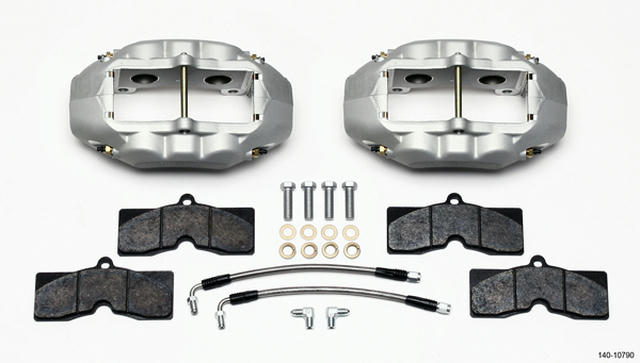 Rear Brake Kit 65-82 Corvette Clear Anodized