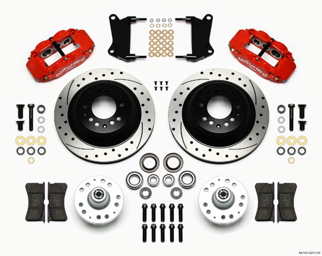 Front Disc Brake Kit Red 67-72 Camaro Nova 12.88