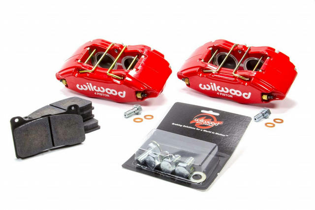 Caliper & Pad Kit Front Honda/Acura Red