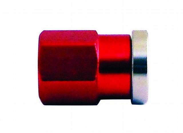 Cover Nut Short Q/C Alum Red