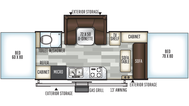 2020 Flagstaff High Wall HW29SC Floor Plan