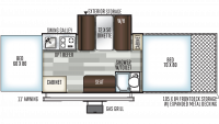 2020 Flagstaff Sports Enthusiast 28TSCSE Floor Plan