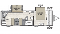 2020 Freedom Express Liberty Edition 276RKDS Floor Plan