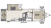 2020 Freedom Express Liberty Edition 279RLDS Floor Plan