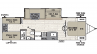 2020 Freedom Express Liberty Edition 292BHDS Floor Plan