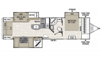 2020 Freedom Express Liberty Edition 293RLDS Floor Plan