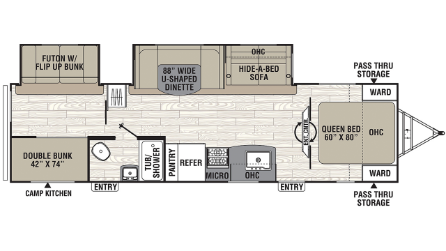 2020 Freedom Express Liberty Edition 310BHDS Floor Plan
